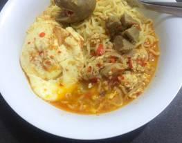 Indomie rebus pedas (kreasi indomie)