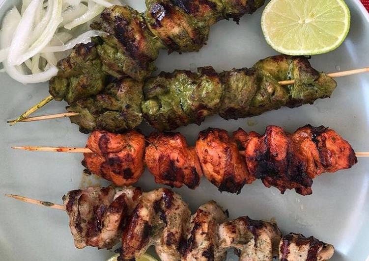 Tri Color Chicken Kebab