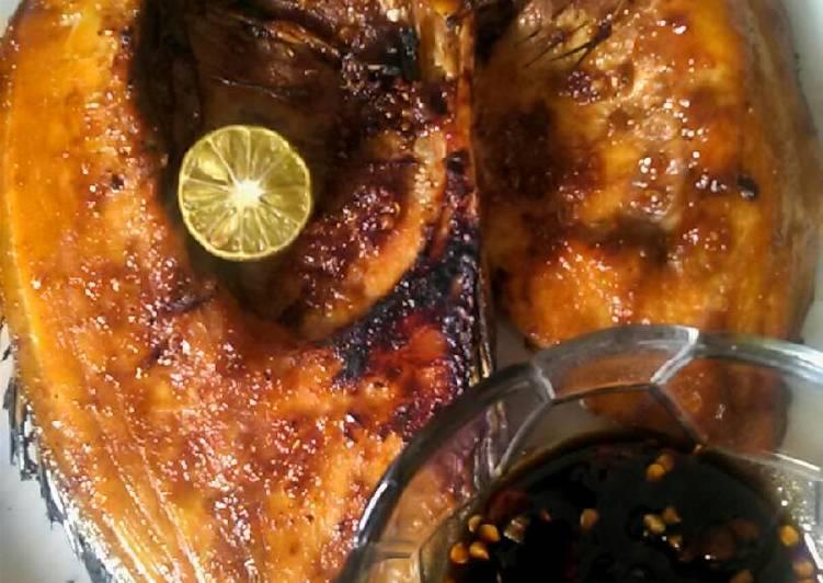 Ikan baronang bakar sambel kecap