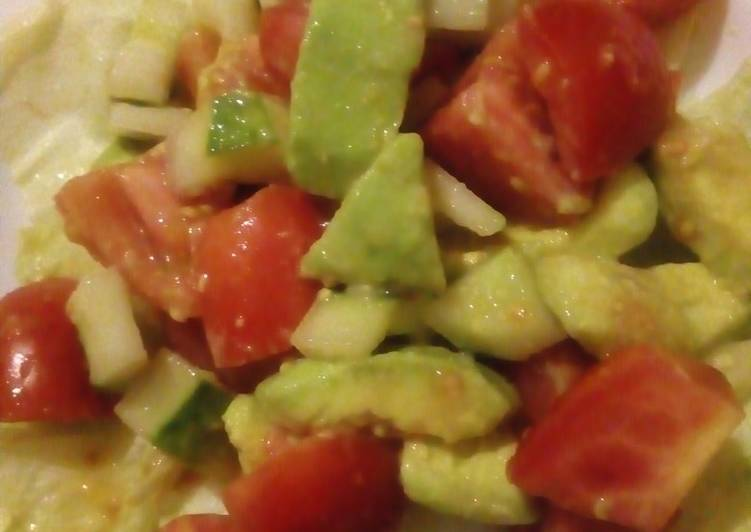 Cucumber,tomato,avocado salad