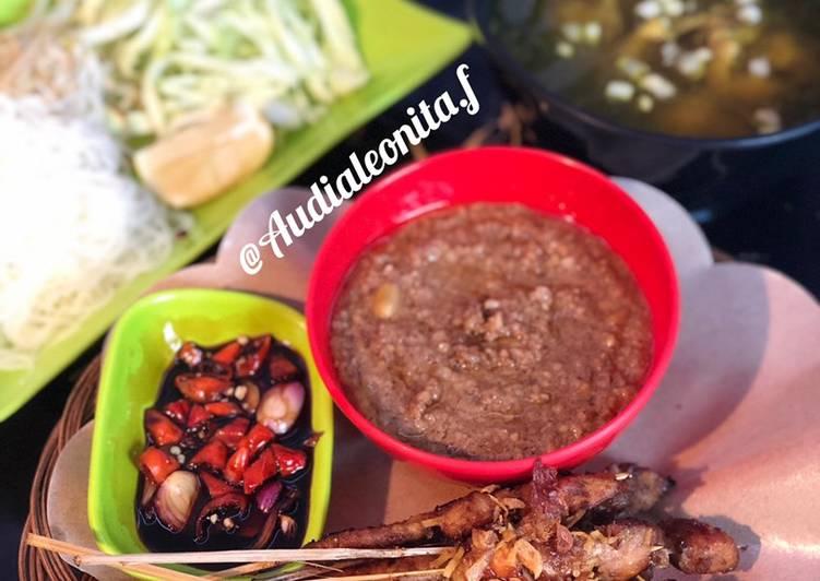 Sate Ayam Teflon+Bumbu Kacang