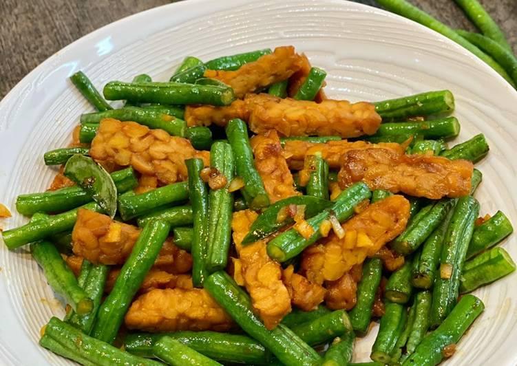 Kacang Panjang Tumis Tempe ala Tiger Kitchen