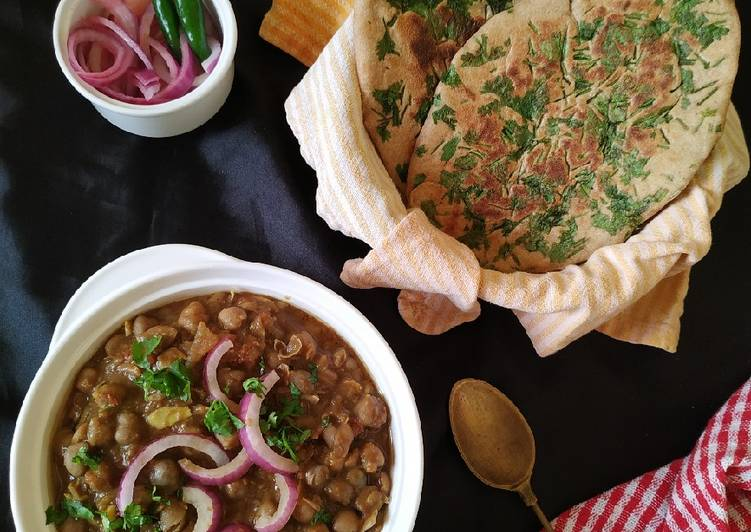 Amritsari chole & kulcha(whole wheat) - Laurie G Edwards