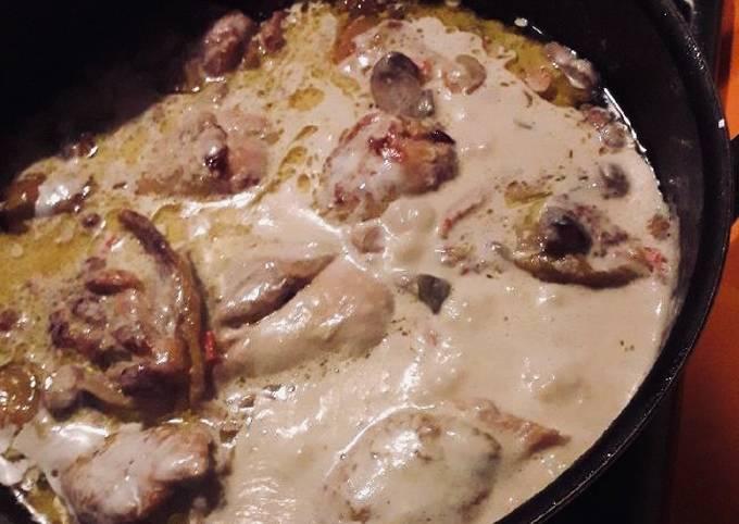 Poulet au lait de coco et épices
