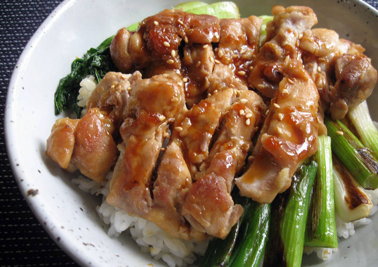 Ginger Teriyaki Chicken Don