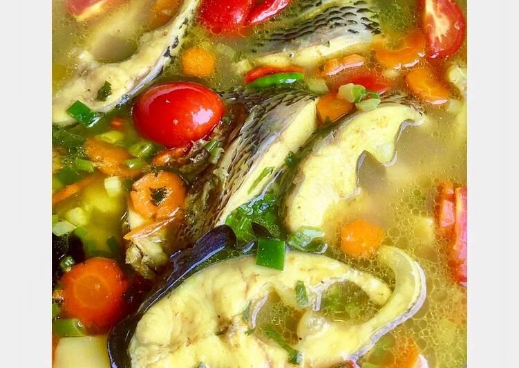 Resep 67. 🍲 Sup Kuning Ikan Nila 🍲 Ala #Matsu yang Enak Banget