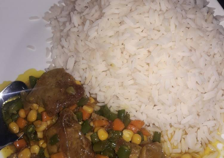 Recipe of Top-Rated White rice and curry sauce