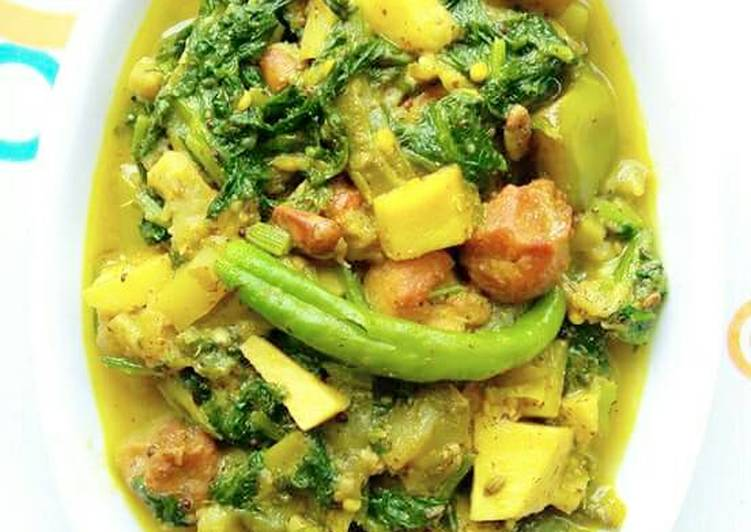 Steps to Prepare Favorite Palanga besara (spinach curry)
