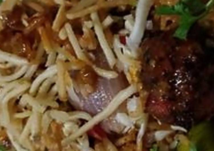 Delicious Manchurian schezwan rice