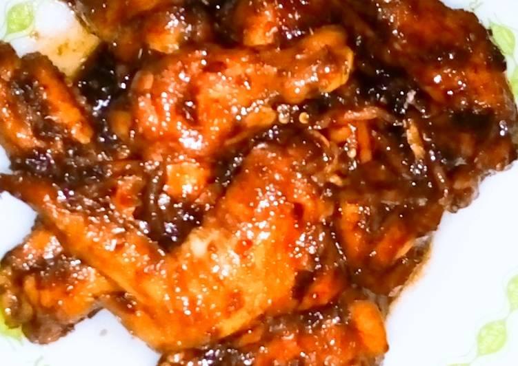 Ayam kecap pedas asam manis