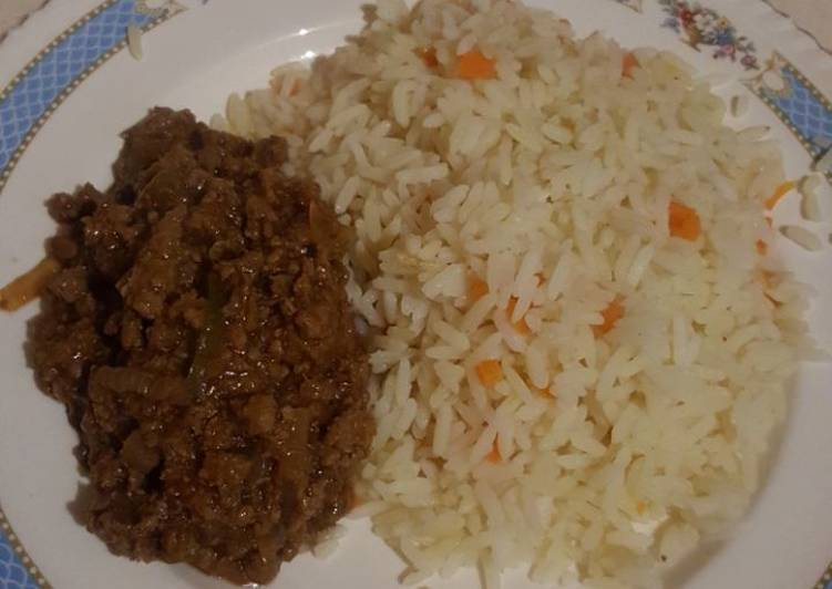 Easiest Way to Make Any-night-of-the-week Savoury rice and mince