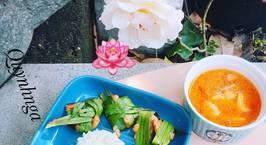 Hình ảnh món Thai food: cơm lá dứa- gà nướng lá dứa-canh tomyum
