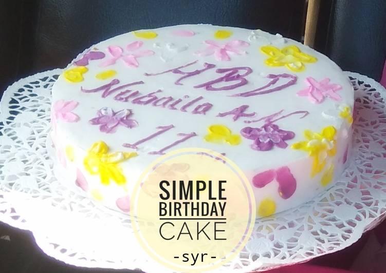 Simple Birthday Cake 🎂 - cookandrecipe.com
