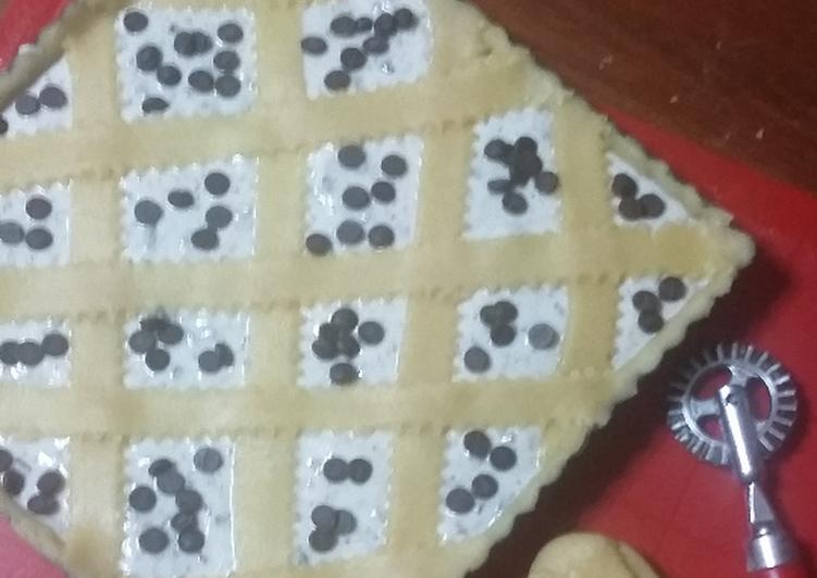 Crostata con ricotta e cioccolato (frolla all'olio)
