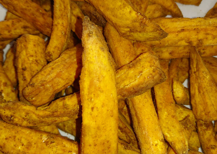 Air Fried Coriander Chunky Sweet Potato Chips