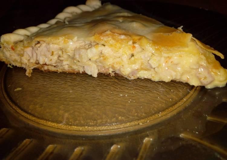 Tarta De Pollo Jamón Y Crema De Leche Receta De Brenda Cookpad
