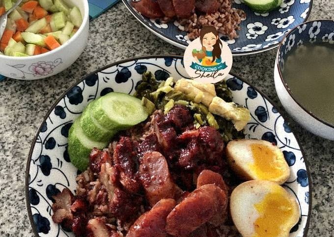 Resep Nasi Campur Charsiu tapi HALAL loh!!!! oleh Cooking with Sheila - Cookpad