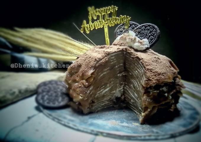 Mille crepes cake chocolatos