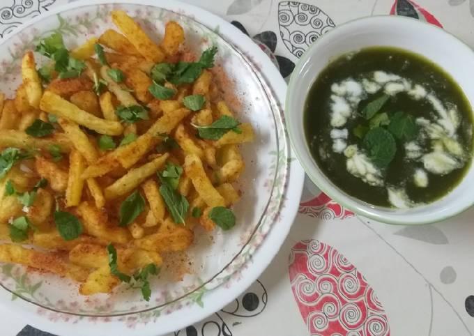 Peri Peri French Fries Spinach Soup