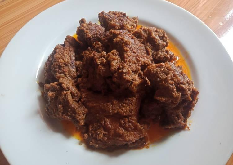 Rendang Daging Sapi Khas Padang