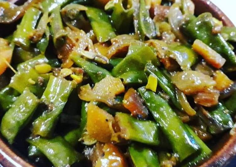 Try Using Food to Elevate Your Mood Yardlong beans and carrot ki spicy sabji