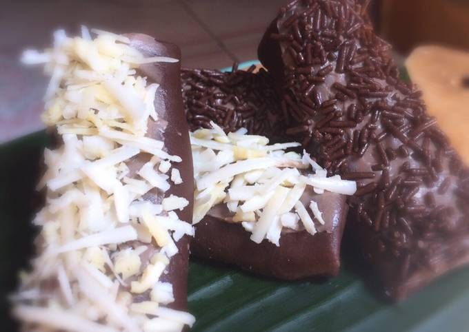 Langkah Mudah Memasak Dadar gulung coklat isi pisang coklat,…