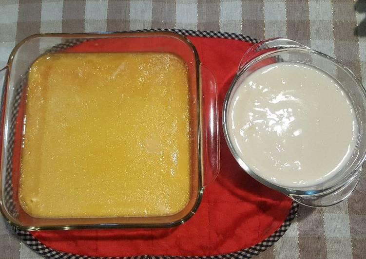 Caramel custard pudding + Fla