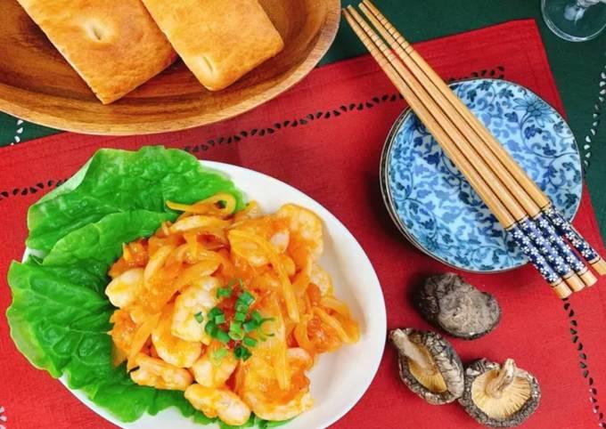 Recipe of Delicious with Shiitake Powder! Spicy Shrimp Stir Fry So Easy