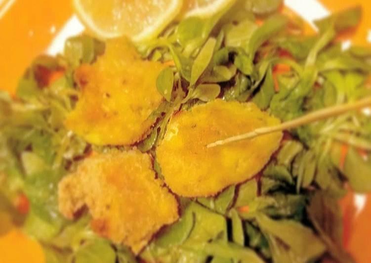 Pepite al forno di pollo impanato al curry