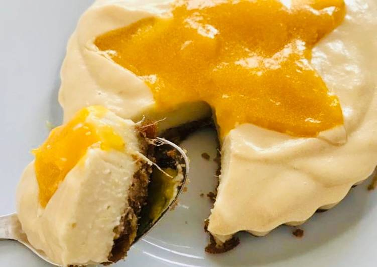 Recipe: Perfect Vegan mango cheezecake