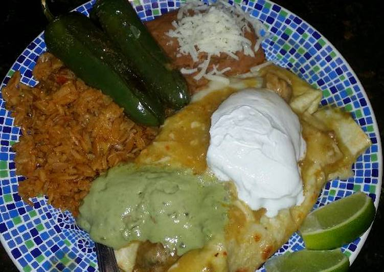 Recipe: Perfect Brad's enchiladas suizas