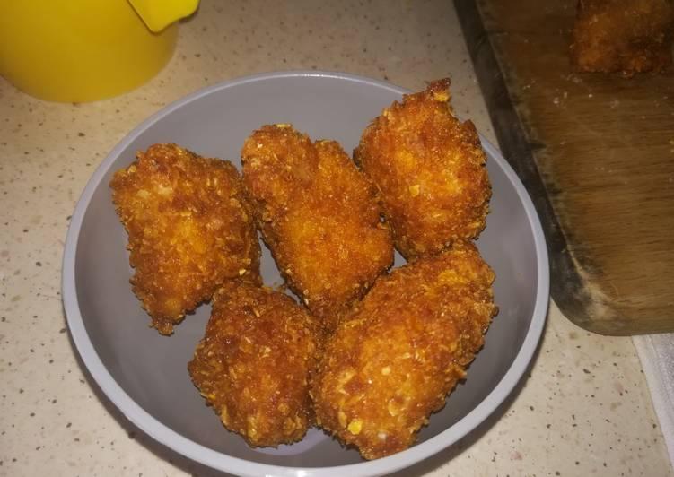 Poll Corn🐓- Pollo marinato e fritto, panato nei cornflakes