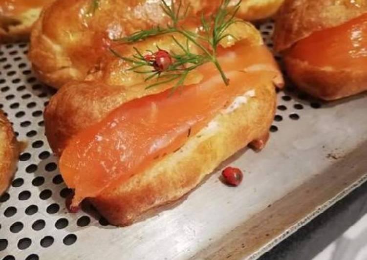 Le moyen le plus simple de Faire Parfait Éclair au beurre de citron vert et saumon gravlax