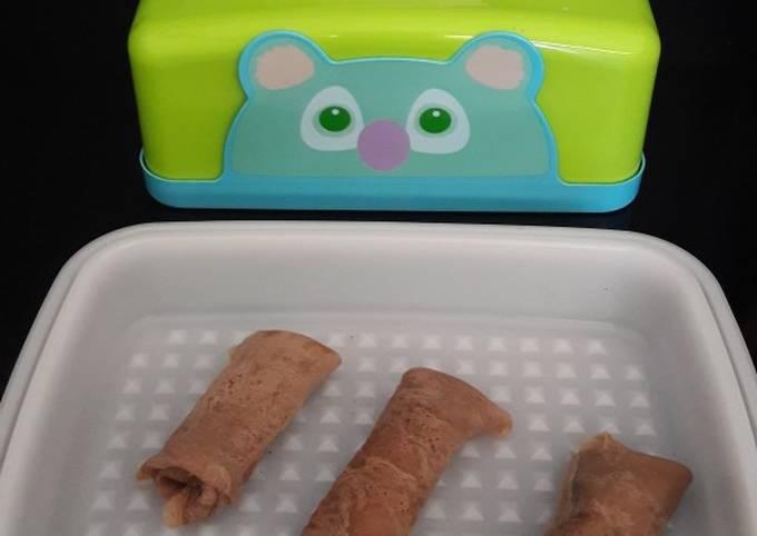 Langkah Mudah Membuat Dadar gulung coklat (isi piscokju) syan…