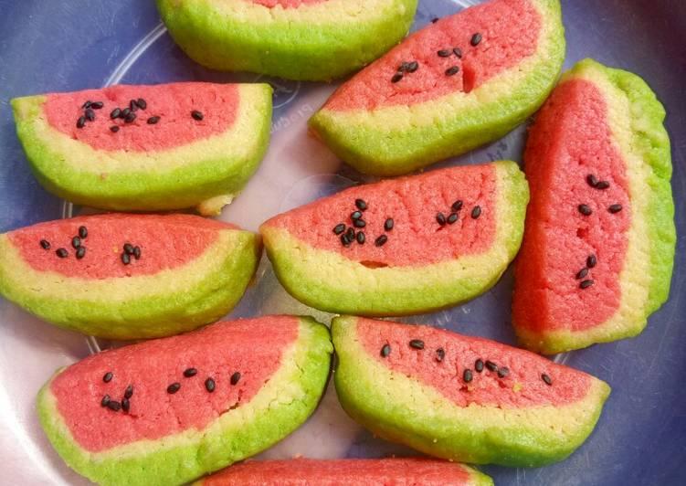 Cantiknya kuker semangka tanpa mixer...😋😋😋