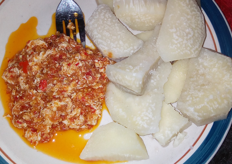 10+ Dinner Ideas Summer Boiled yam with egg sauce