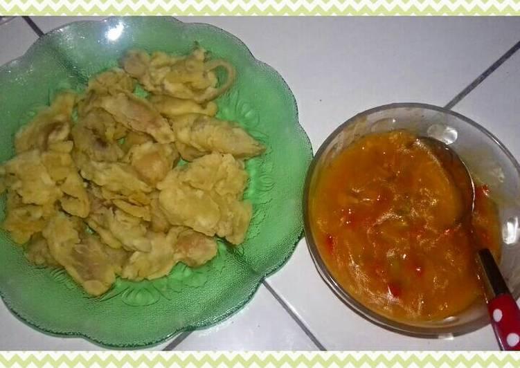 Cumi goreng tepung saus padang momy Qila