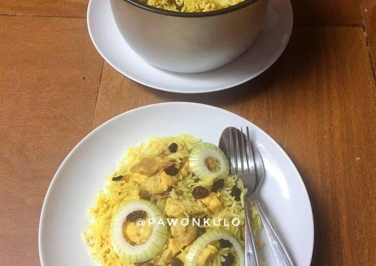 Nasi Kebuli Ayam Rice Cooker Tanpa Santan/Susu