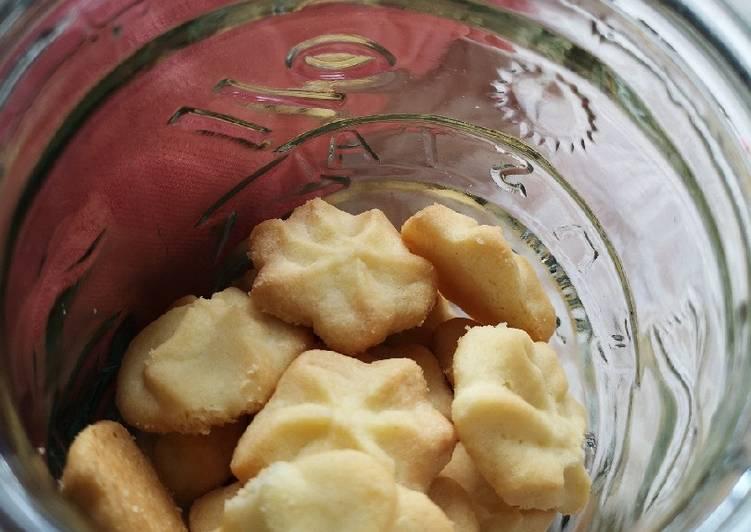 Simple butter cookies renyah lembut