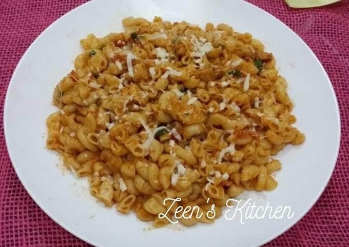 Indian Style Masala Cheesy Macaroni