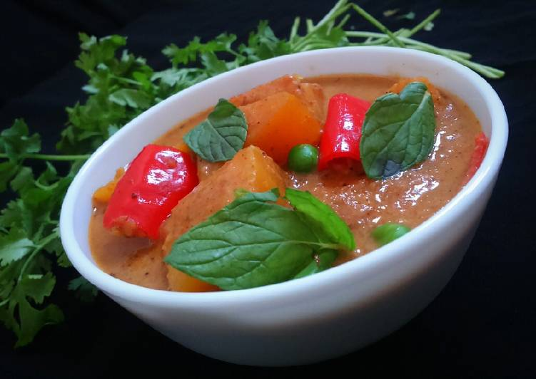 Restaurant style Red Thai Curry