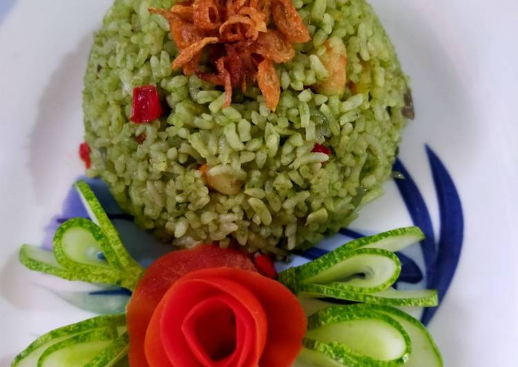 Nasi Goreng Pandan Seafood