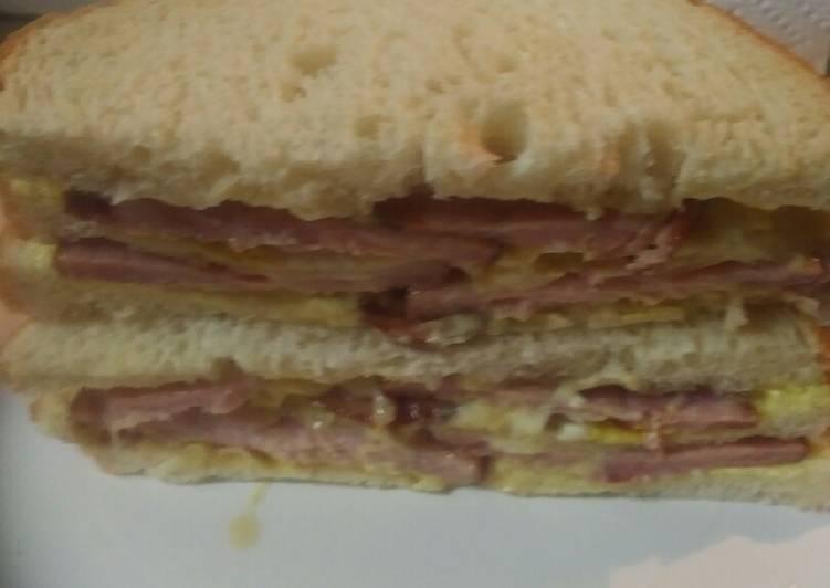 Canadian Bacon Sandwich