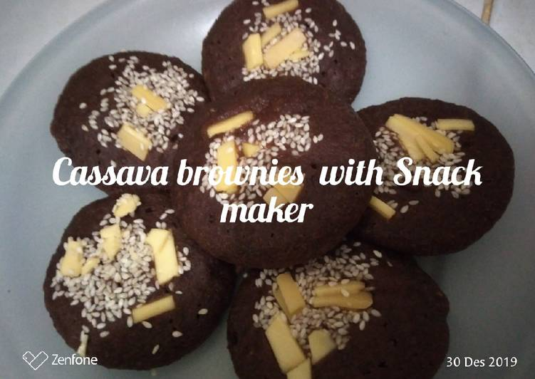 Cassava brownies with Snack maker