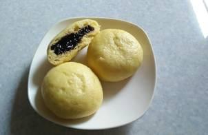 Bánh bao chay nhân nếp cẩm