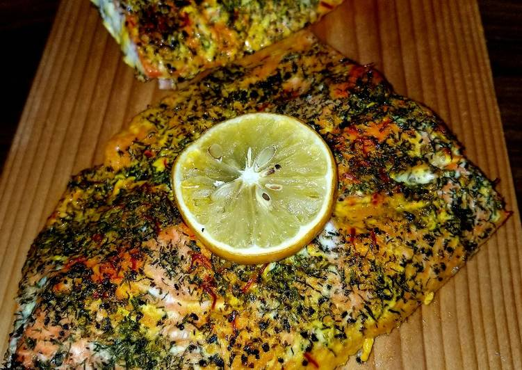 Recipe: Yummy Mike's Complete Salmon Dinner [Grilled Or Baked]