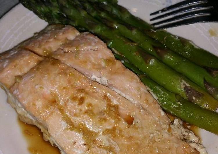 Orange Salmon with Asparagus