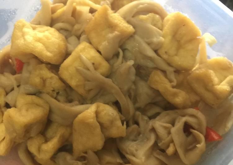 Masakan ala Rumahan, Tumis Jamur Tahu - cookandrecipe.com