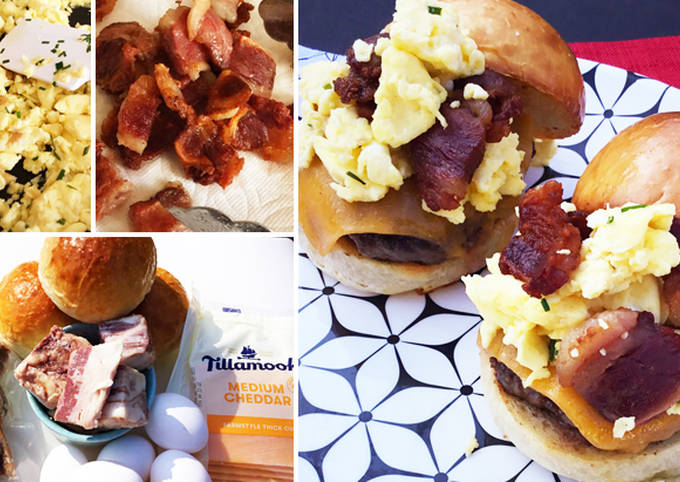 Fullblood Wagyu Beef Bacon and Breakfast Sausage Sandwiches
