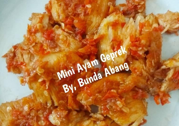 Mini Ayam Geprek (No MSG No Terasi)